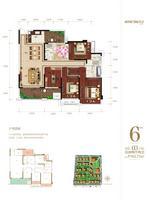 凯旋国际6#楼03户型5室2厅2卫162.75�O