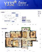 Y332 A1户型 4+1房2厅2卫