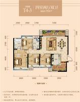 金科星辰3号楼T4-34室2厅2卫130.00�O