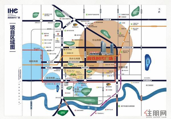 高铁时代广场交通图