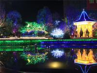 柳州恒大雅苑实景图 园林夜景