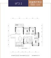 华泰官邸15#2-24室2厅2卫127.85�O