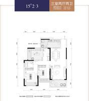 华泰官邸15#2-33室2厅2卫100.41�O