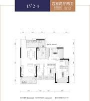 华泰官邸15#2-44室2厅2卫121.87�O