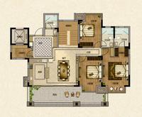 嘉和城F1户型底层复式一层8室3厅5卫136.89�O