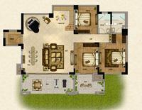 嘉和城F1户型底层复式负一层8室3厅5卫136.89�O