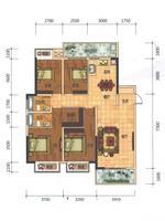 科瑞・江韵E1户型141�O(建面)4室2厅2卫141.00�O