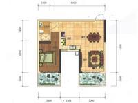 科瑞・江韵E2户型61�O(建面)1室2厅1卫61.00�O