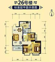 钦州恒大绿洲三房两厅一卫3室2厅1卫103.46�O