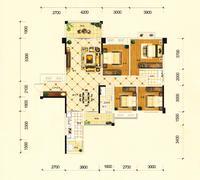 金茂新城B户型4室2厅2卫140.53�O