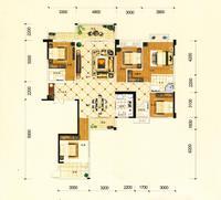 金茂新城C2户型4室2厅2卫187.08�O