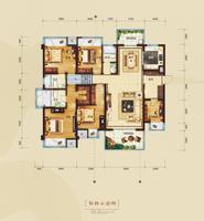中国铁建・云景山语城C户型5室2厅3卫167.00�O