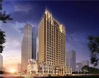 三祺・城光中心效果图|办公楼商业裙楼外观设计角度一
