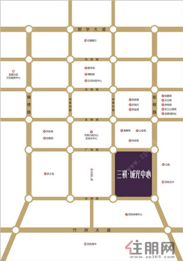 三祺·城光中心-区域图