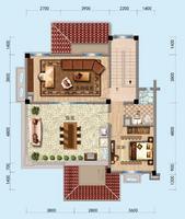 别墅三层   两房一卫