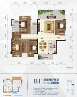 招商・榕园B1户型4室2厅2卫129.00�O