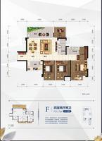招商・榕园F户型图4室2厅2卫117.00�O