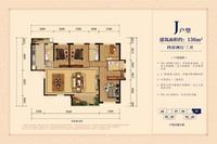银丰中央首府J户型 136�O4室2厅3卫136.00�O