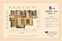 银丰中央首府B户型 139�O4室2厅3卫139.00�O