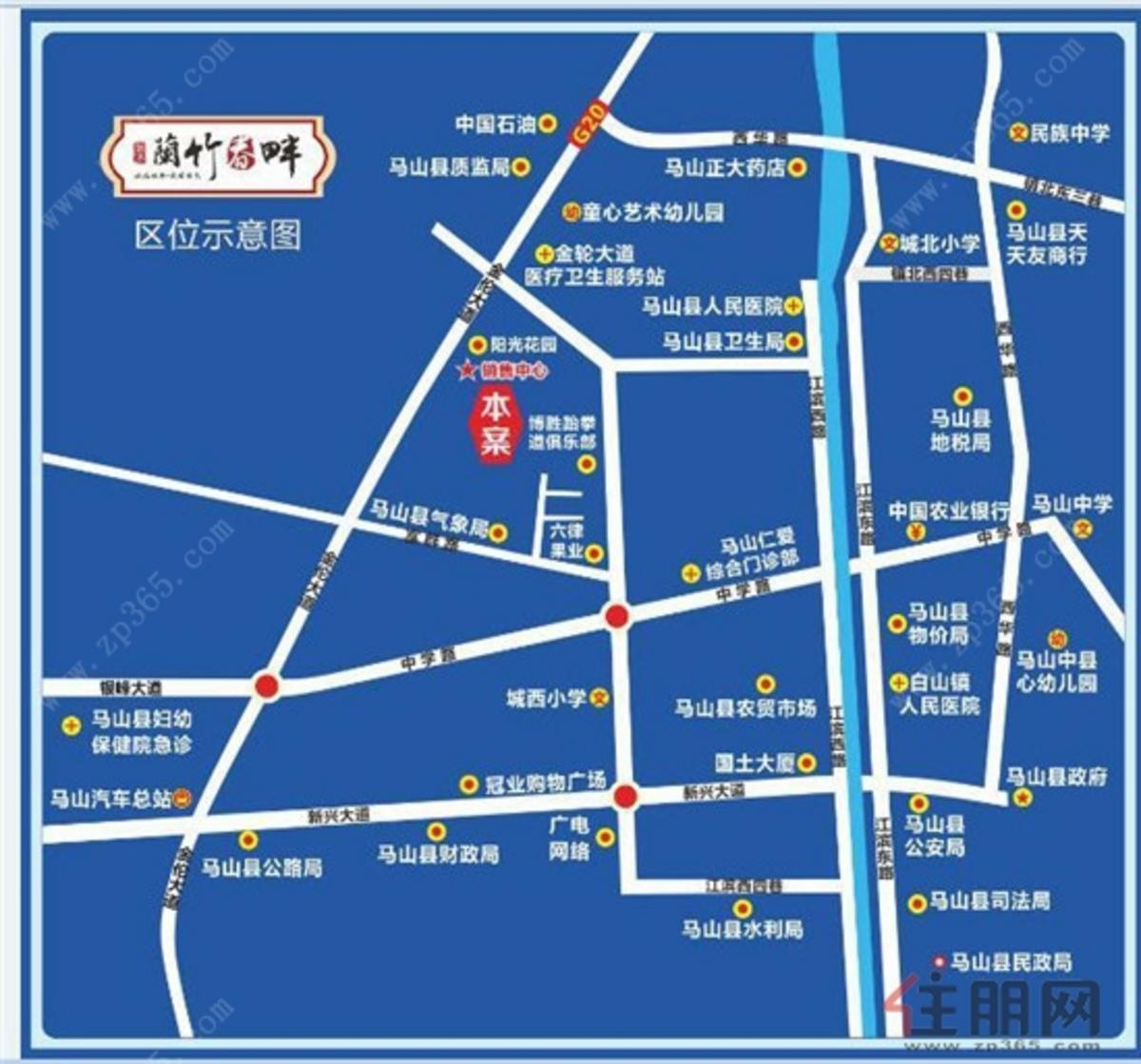 兰竹春畔区位图(2017.09)