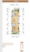 柳州・联盟新城联排别墅B户型 / 四房二厅四卫 一层 4室2厅4卫198.00�O