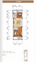 柳州・联盟新城联排别墅B户型 / 四房二厅四卫 二层 4室2厅4卫198.00�O