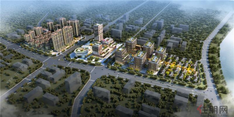 南宁启迪东盟科技城鸟瞰图