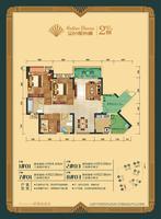 金色维也纳1#7#楼01、2#8#楼03户型3室2厅2卫102.96�O