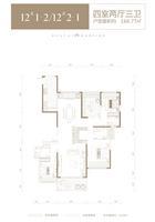 华泰官邸12#1-2--2-14室2厅3卫166.77�O