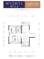 华泰官邸16#1-2--2-1--2-23室2厅2卫108.47�O