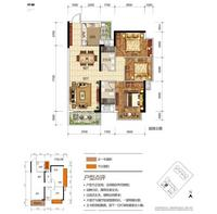 奥园永和府2栋1-02 号房3室2厅2卫107.00�O