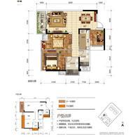 奥园永和府2栋1-05  号房3室2厅2卫96.00�O