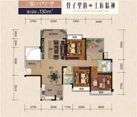 中辰阳光郡 三号楼2期04户型4室2厅2卫130.00�O