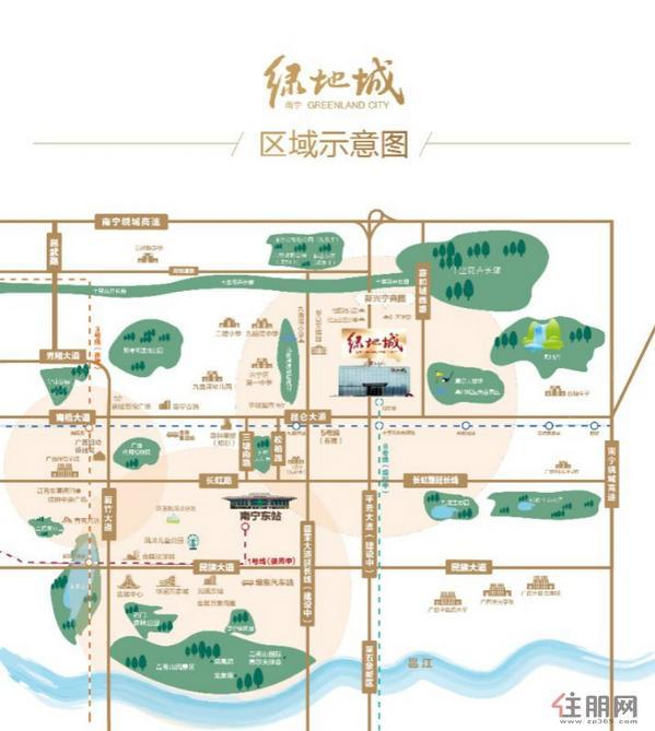 南宁绿地城区位图
