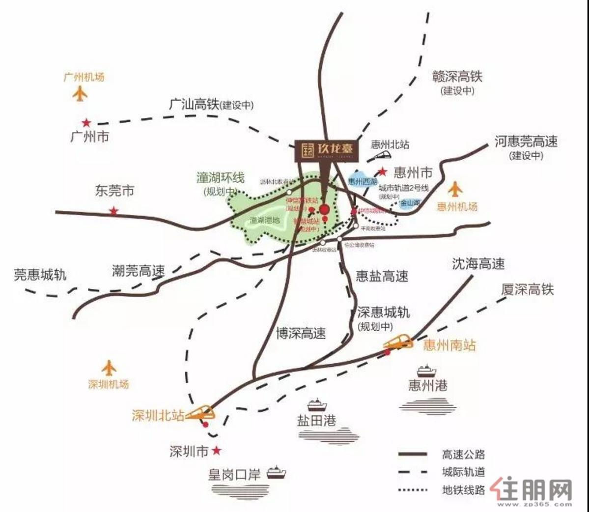 玖龙台 交通图