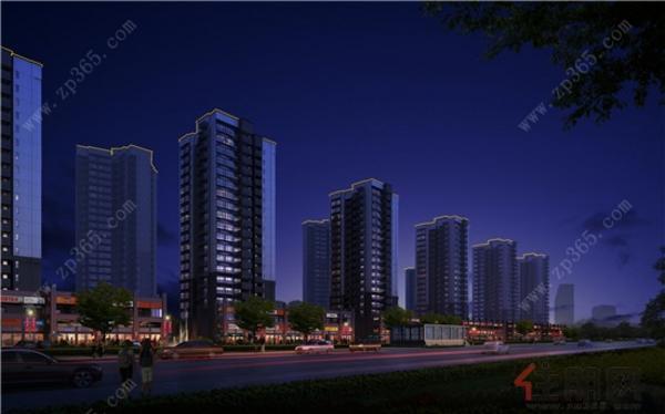 公园里主方案西鹅路街景-夜景