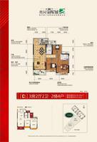 [C2户型]3房2厅2卫丨2梯4户