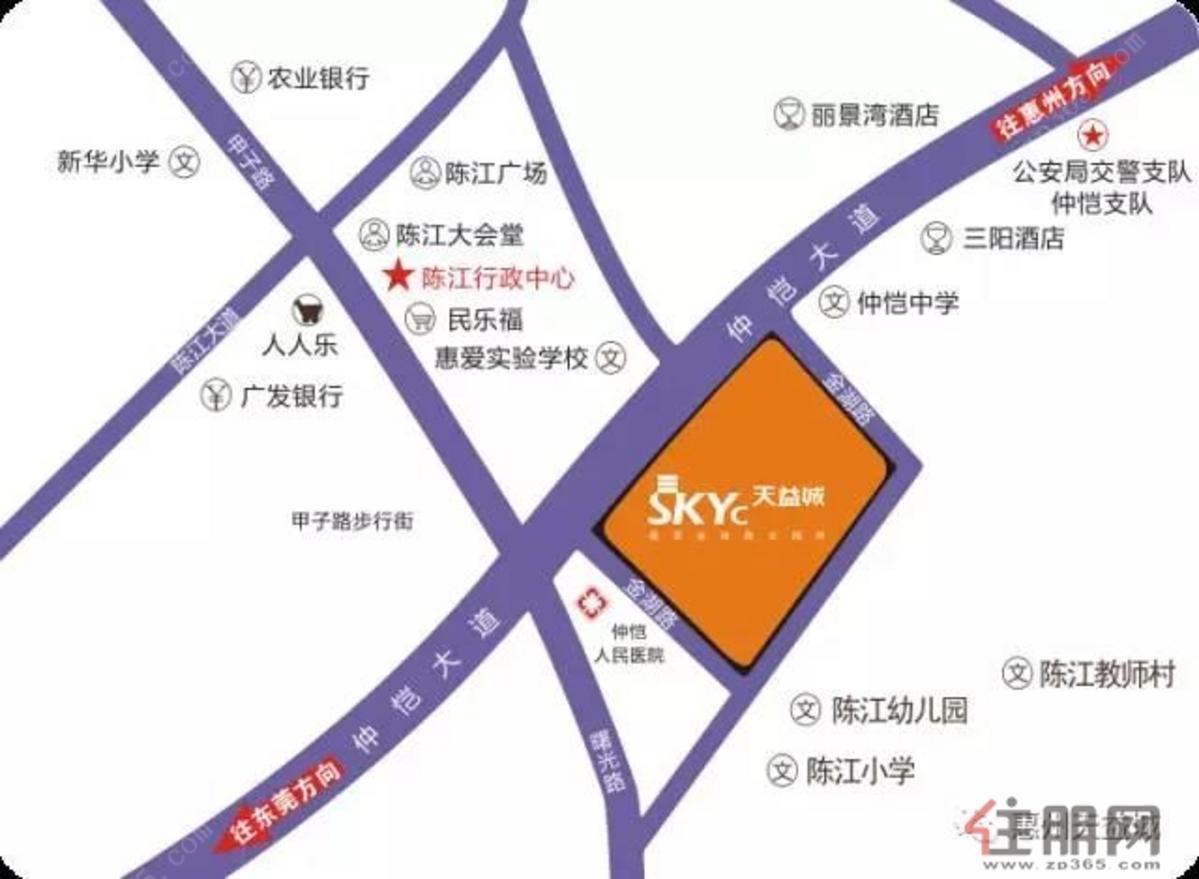 天益城2期 交通图