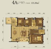 美泉16124A户型4室2厅2卫171.70�O