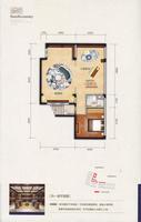 君华小镇C别墅户型168�O负一层平面图1室2厅1卫168.00�O