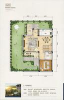 君华小镇C别墅户型168�O一层平面图1室2厅1卫168.00�O