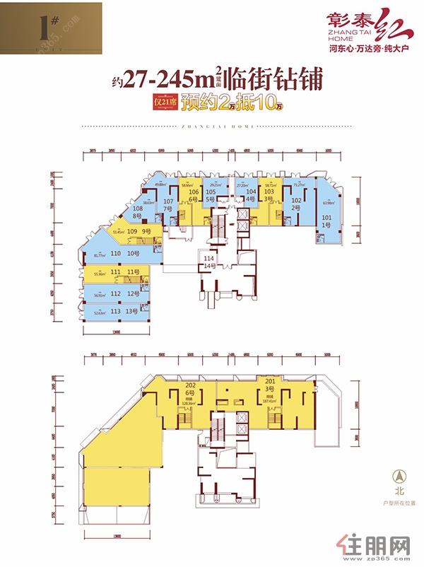 彰泰红1#商铺0室0厅0卫27.00―245�O