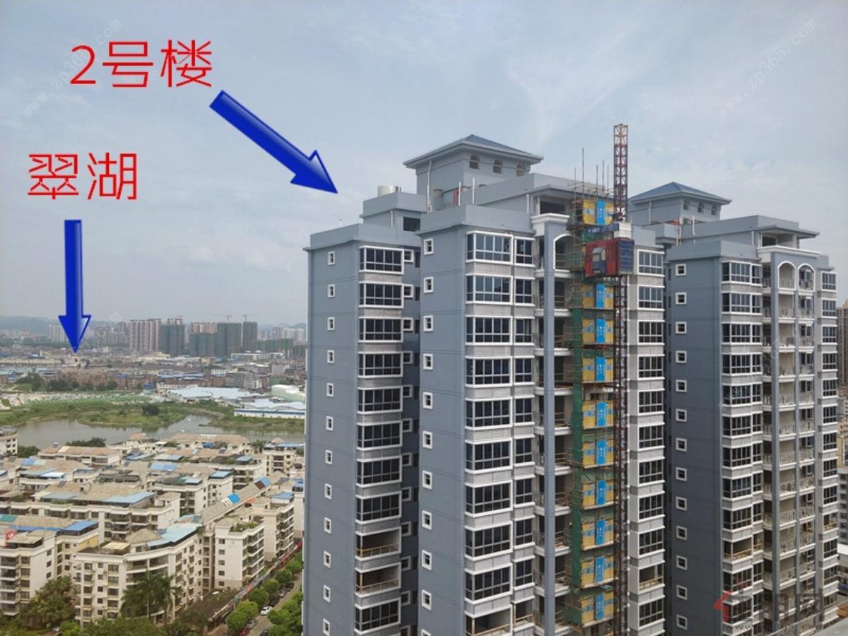 2号楼与翠湖(2018.9)