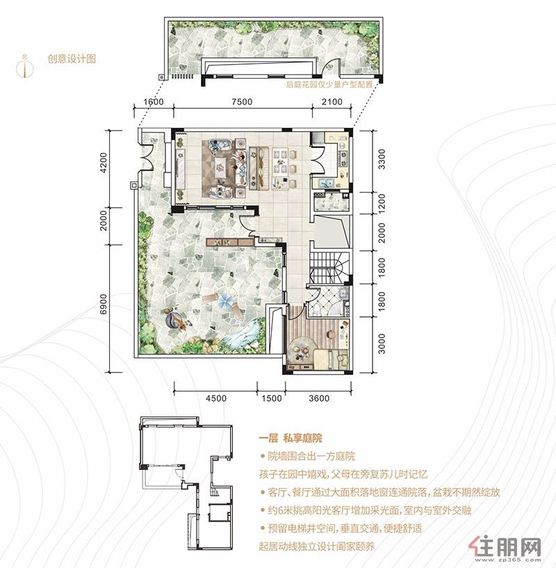 合景・香悦四季别墅180�O一层5室3厅3卫180.00�O