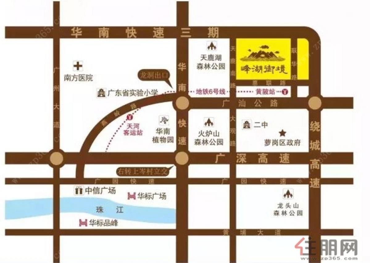 华标·峰湖御境 交通图