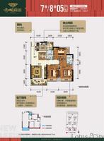 荷城嘉园7#8#05户型3室2厅2卫113.93�O