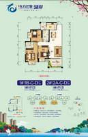 万昌・东方巴黎湖岸1#户型3室2厅2卫111.45�O