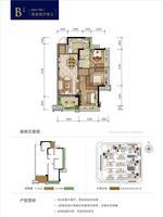 金科远道・集美天悦B户型2室2厅1卫86.00�O