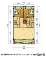 中梁壹号院联排别墅6#-18#东边套户型2层0室0厅0卫181.00�O