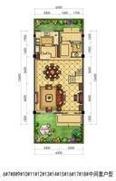 联排别墅6#-18#中间套户型1层